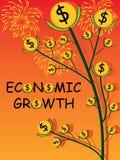 经济增长盖子 皇族释放例证