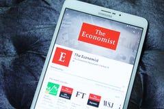 经济学家流动app 免版税库存照片