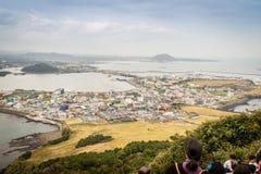 济州海岛,韩国- 2016年11月13日:游人参观了Seo 库存图片