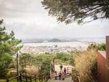 济州海岛,韩国- 2016年11月13日:游人参观了Seo 图库摄影