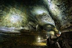 济州特别自治道,韩国- 2015年4月14日:Manjanggul洞在济州海岛 库存照片