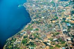 济州,一个海岛一张鸟瞰图在韩国 库存图片