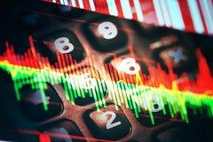 经济数据显示 免版税库存照片