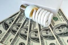 经济的电灯泡 免版税库存图片
