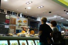 经济米摊位在新加坡 免版税库存图片