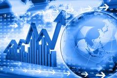 经济股市图表 免版税库存照片