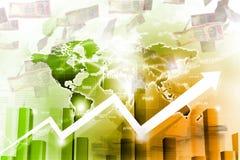 经济股市图表 免版税图库摄影
