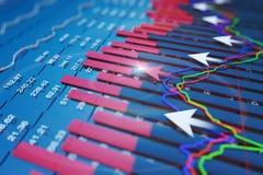 经济表现和前进与箭头 免版税库存图片