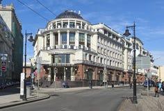 经济高中在莫斯科 图库摄影
