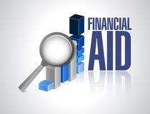 经济援助企业图表标志概念 免版税库存图片