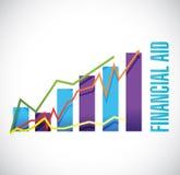 经济援助企业图表标志概念 库存照片