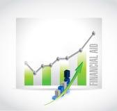 经济援助企业图表标志概念 免版税库存照片