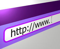 浏览器互联网万维网宽世界 库存照片