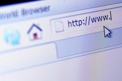 浏览器互联网 免版税库存图片