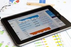 浏览器显示股票的ipad那斯达克 免版税库存图片