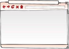 浏览器空的视窗 免版税库存照片