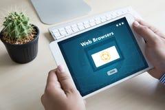 浏览器http人用途计算机网浏览器网上网络骗局 库存图片
