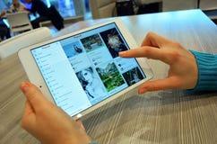浏览在Pinterest网站上 免版税图库摄影