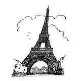浏览埃菲尔在巴黎 免版税库存照片