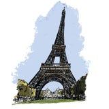 浏览埃菲尔在巴黎 免版税库存图片