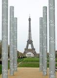 浏览埃菲尔在巴黎 图库摄影