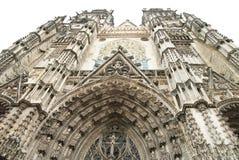 浏览大教堂门面 免版税图库摄影