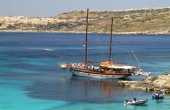 浏览小船在马耳他 免版税图库摄影