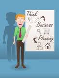 浏览详述的企业动画片任意感觉其他计划系列对工作 免版税库存照片