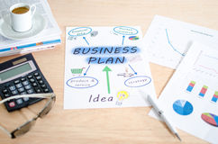 浏览详述的企业动画片任意感觉其他计划系列对工作 免版税库存图片