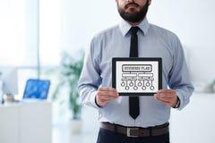 浏览详述的企业动画片任意感觉其他计划系列对工作 免版税图库摄影