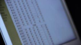 浏览从网,计算机展览会财务数据的企业数据 股票视频