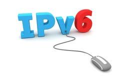浏览IPv6 -灰色鼠标 图库摄影
