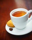 浓咖啡咖啡供食用饼干 免版税图库摄影