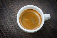 浓咖啡咖啡双射击 免版税库存照片