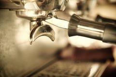 浓咖啡咖啡机器 图库摄影
