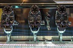 浓咖啡咖啡自动的机械工具 库存图片