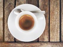 浓咖啡咖啡顶视图  免版税库存照片