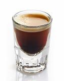 浓咖啡咖啡玻璃 库存图片