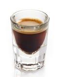 浓咖啡咖啡玻璃 免版税库存图片