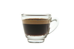 浓咖啡小玻璃 免版税库存图片