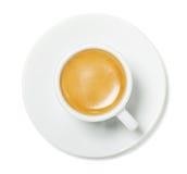 浓咖啡杯子顶视图 免版税库存图片