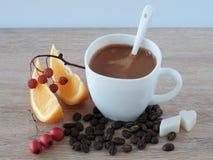 浓咖啡用桔子 免版税库存照片
