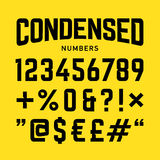 浓缩的数字,工业大胆的样式字体 皇族释放例证