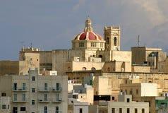 浓缩的la马耳他瓦莱塔视图 库存照片