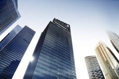 浓缩建筑学办公楼都市风景个人的透视 库存照片