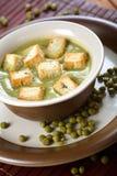 浓豌豆汤多士 免版税库存图片