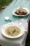 浓豌豆汤用肉 免版税图库摄影