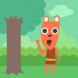浣熊在森林里 库存照片