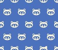 浣熊无缝的纹理,样式,背景 库存照片