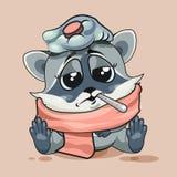 浣熊崽病残 库存图片